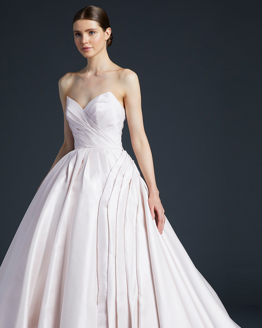 anne barge pleated sweetheart wedding dress fall 2019