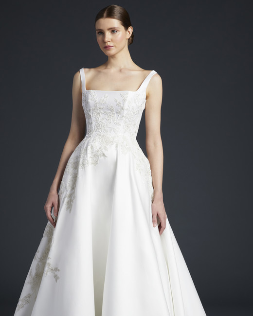 anne barge square strap wedding dress fall 2019