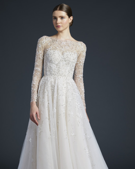 anne barge sheer long sleeves wedding dress fall 2019
