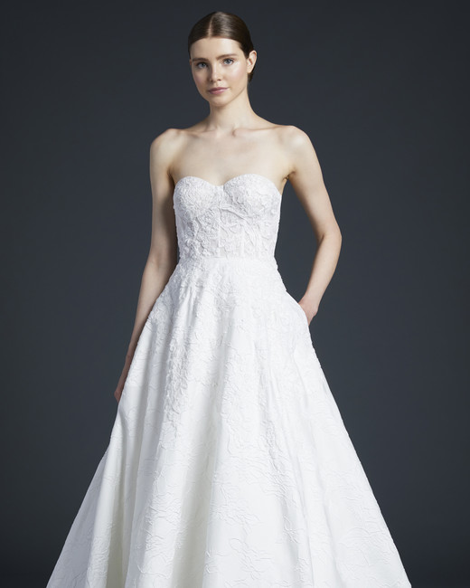anne barge patterned sweetheart wedding dress fall 2019