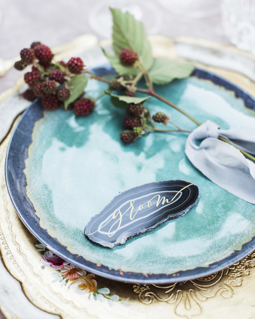 berry wedding ideas raspberry place setting