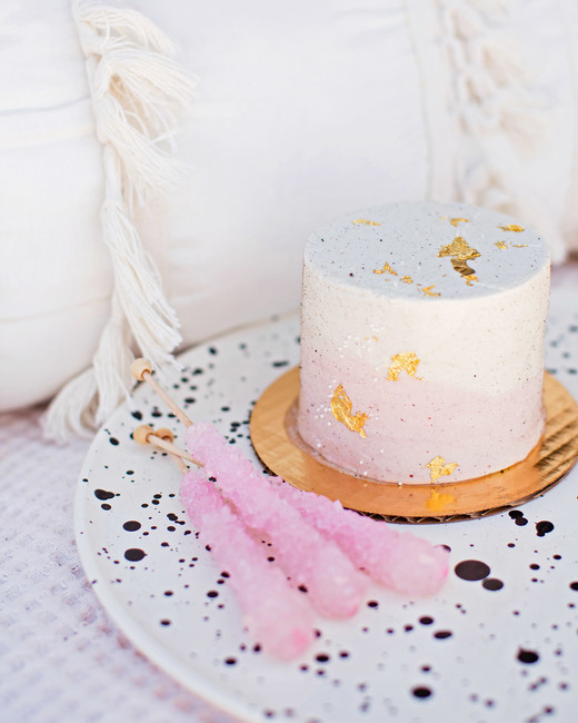 bridal shower sparkly mini cake