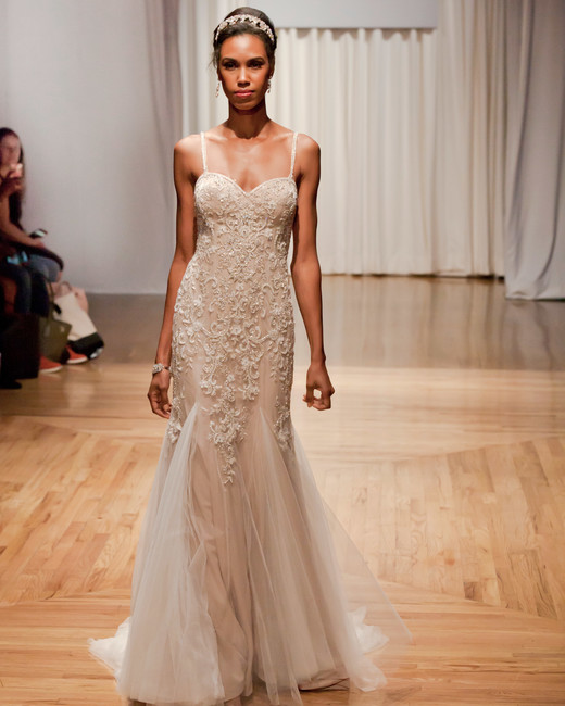 casablanca fall 2018 spaghetti strap sweetheart wedding dress