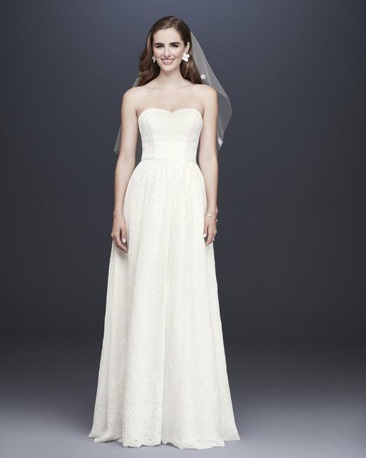 davids bridal galina fall 2019 a line sweetheart strapless lace