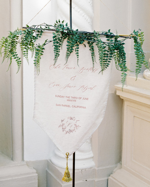 erika evan wedding welcome sign