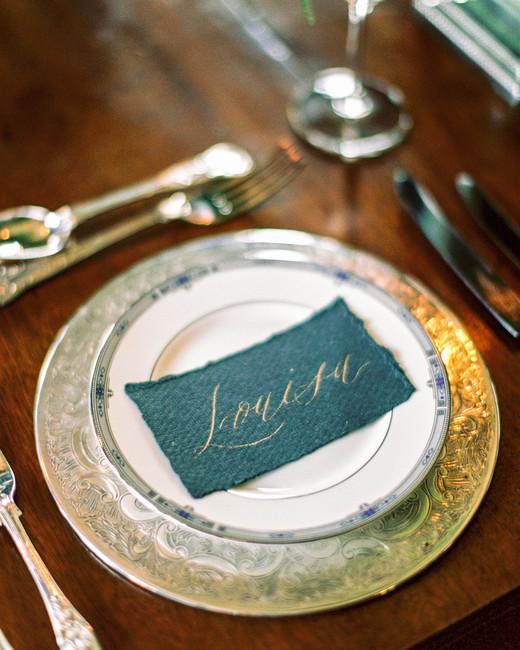 green wedding ideas lise odwyer place card