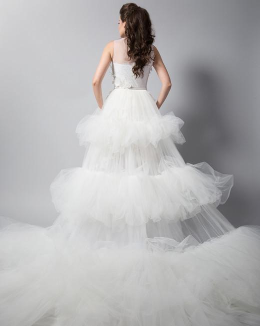 randi rahm layered tule wedding dress fall 2018