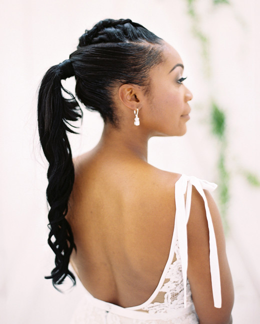 shakira travis wedding bride ponytail