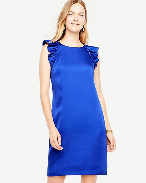 Ann Taylor Ruffle Sleeve Shift Dress