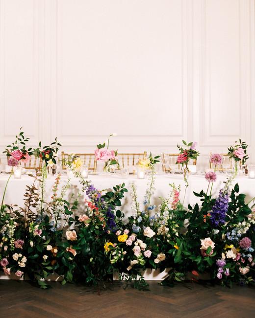 stephanie joe wedding reception table