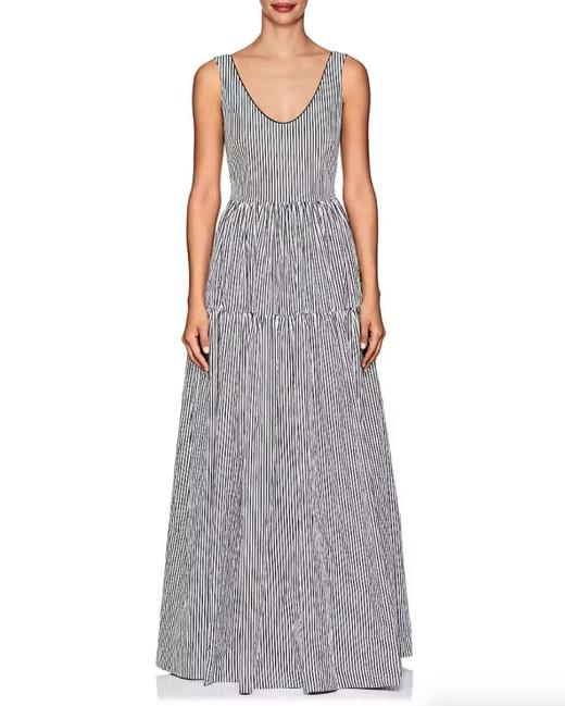 Martin Grant Striped Stretch-Cotton Dress