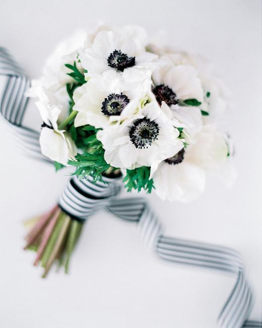 vanessa abidemi wedding bouquet black and white flowers