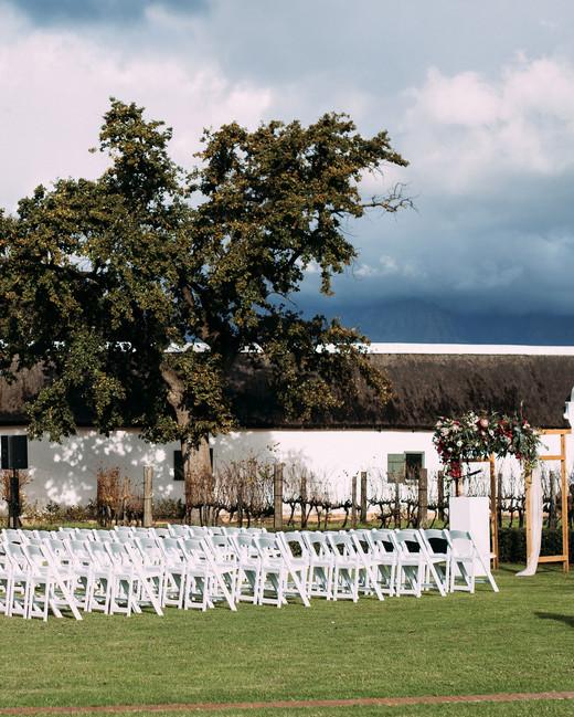 yolana douglas wedding outside ceremony space