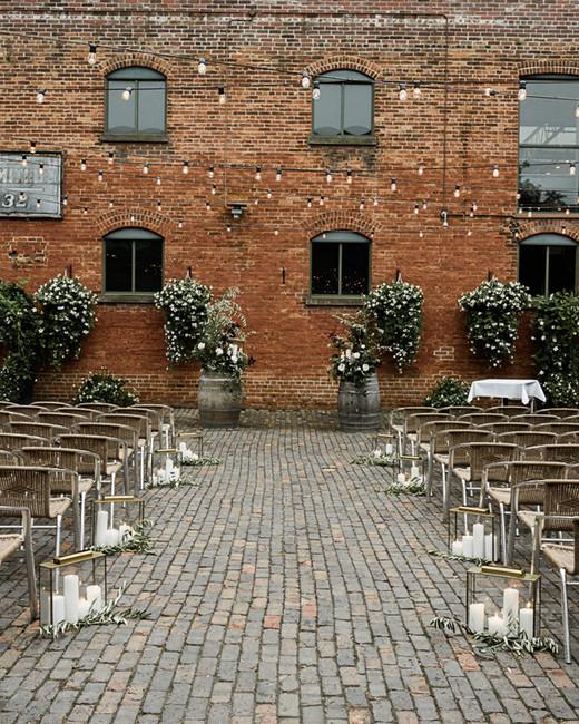 distillery courtyard wedding venue outdoors