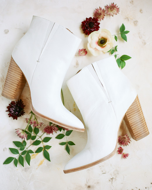 amanda chase wedding white booties
