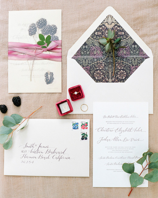 berry wedding ideas blackberry invitation
