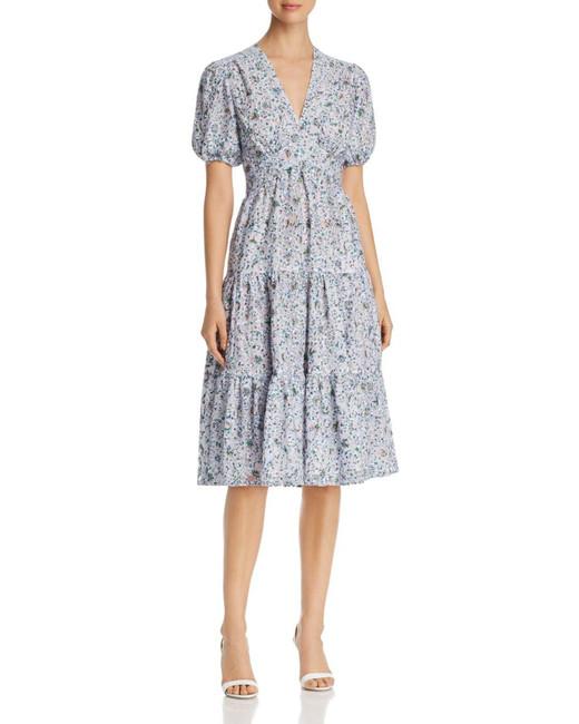 spring bridal shower dress floral print lace short sleeved