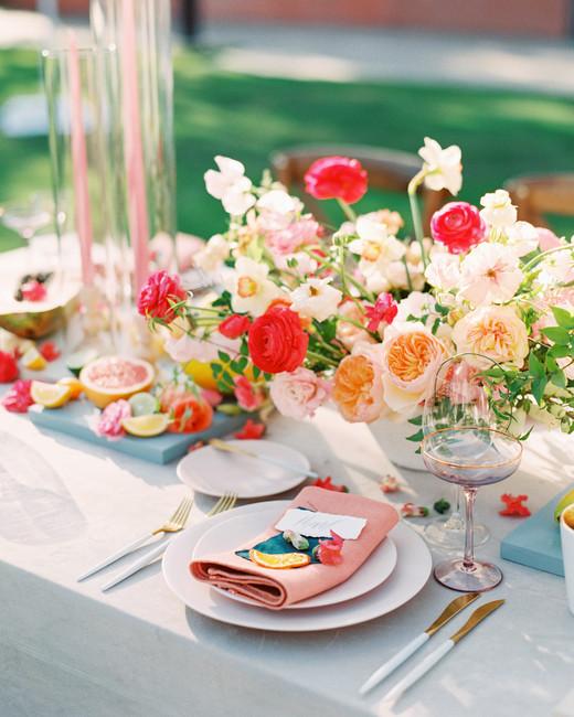 cavin david wedding floral table centerpieces