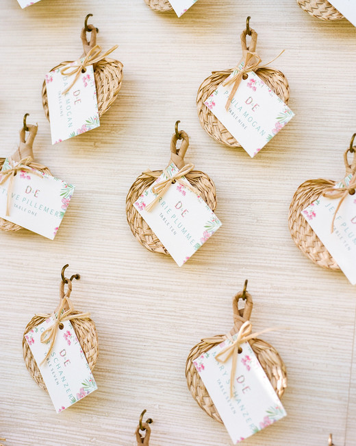 Miniature fan seating card and guest favor