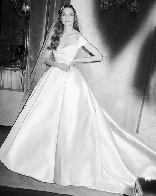 261c0feff80 elie saab wedding dress spring 2019 off the shoulder satin ballgown