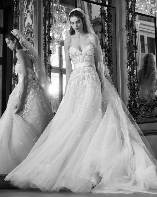 elie saab wedding dress spring 2019 strapless tulle a-line
