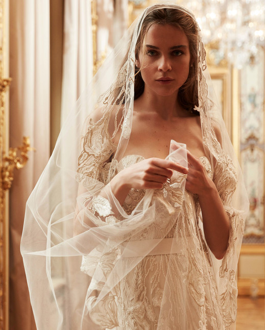 elie saab wedding dress spring 2019 strapless veil beading