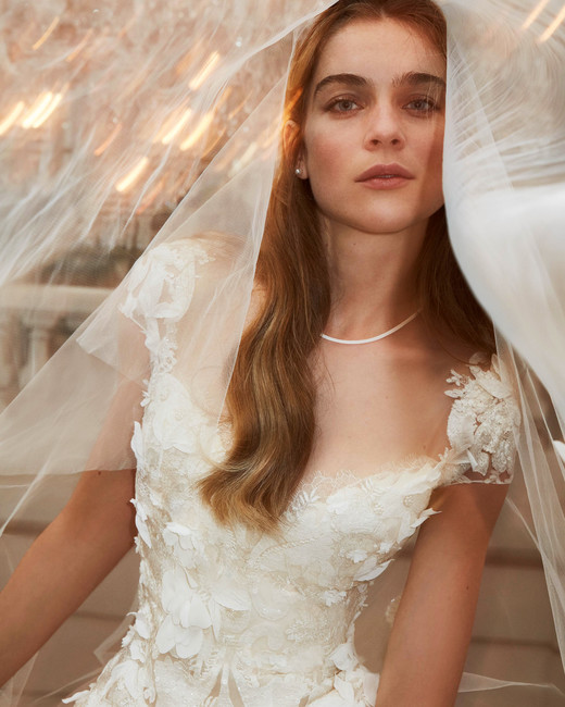 elie saab wedding dress spring 2019 cap sleeves floral embroidery