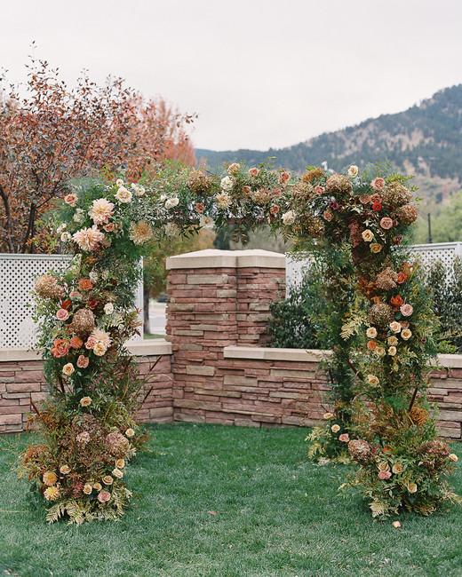 floral foliage wedding ceremony arch