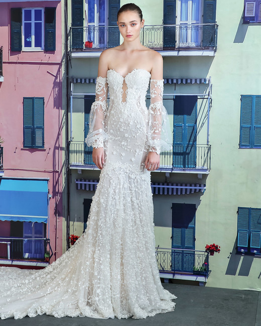 galia lahav off the shoulder sweetheart wedding dress fall 2019