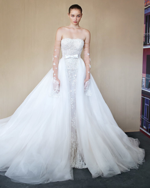 galia lahav square sheath with train wedding dress fall 2019