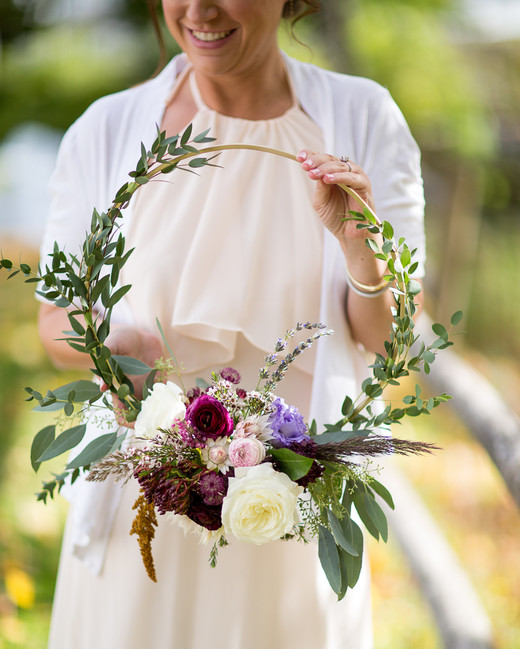 hoop bouquets erin h photography