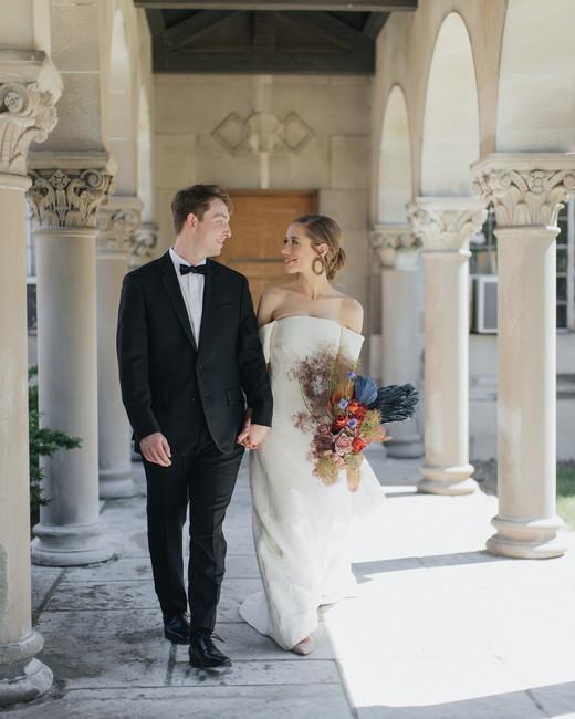 madision kyle wedding couple walk