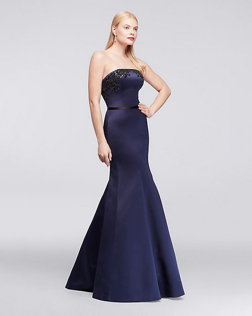 Truly Zac Posen Strapless Satin Dress