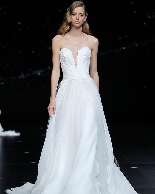 pronovias strapless a-line wedding dress spring 2020