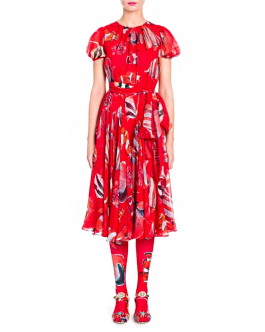 Dolce & Gabbana chiffon fish print dress