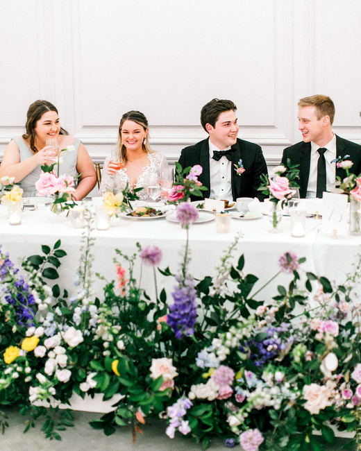 stephanie joe wedding groom bride head table