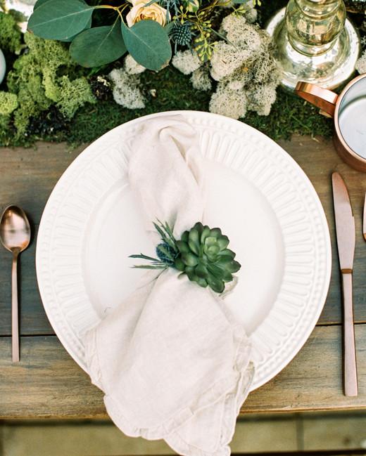 Succulent napkin rings