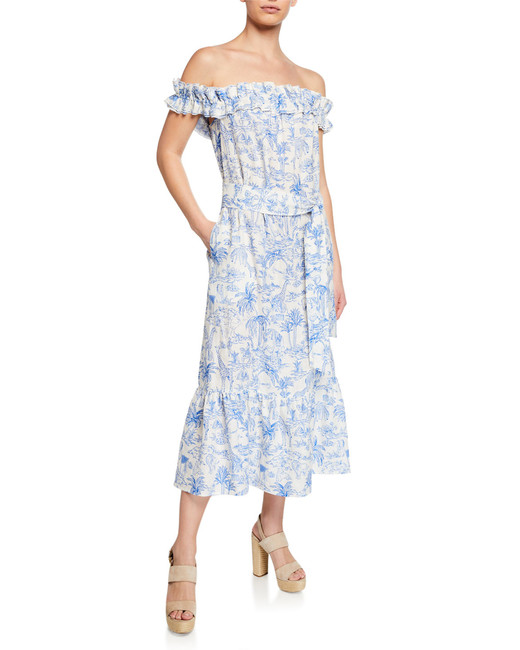 Tory Burch Linen Ruffle Dress