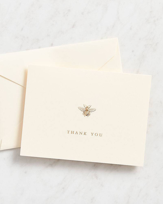 thank you notes paper source bee