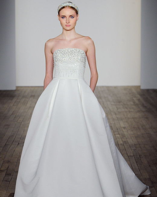 allison webb wedding dress embellished bodice strapless ball gown