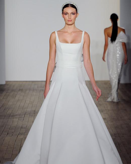allison webb wedding dress square neckline a-line sleeveless