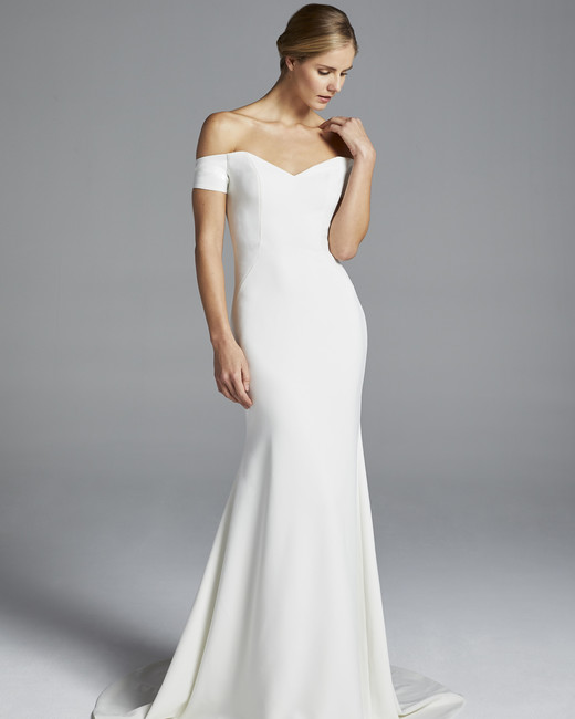 anne barge off the shoulder mermaid wedding dress spring 2019