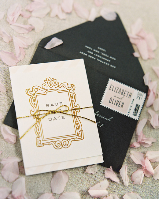 classic save the dates glamorous art deco