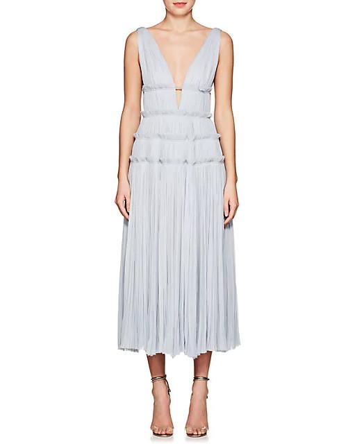 j. mendel silk midi dress