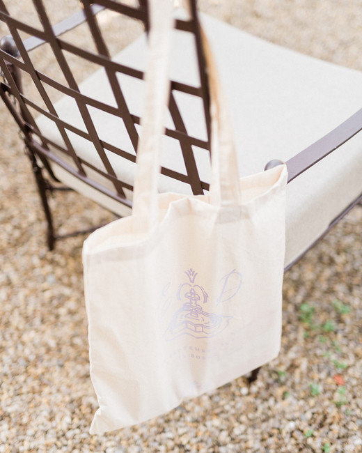 wedding guest natural-toned welcome bags