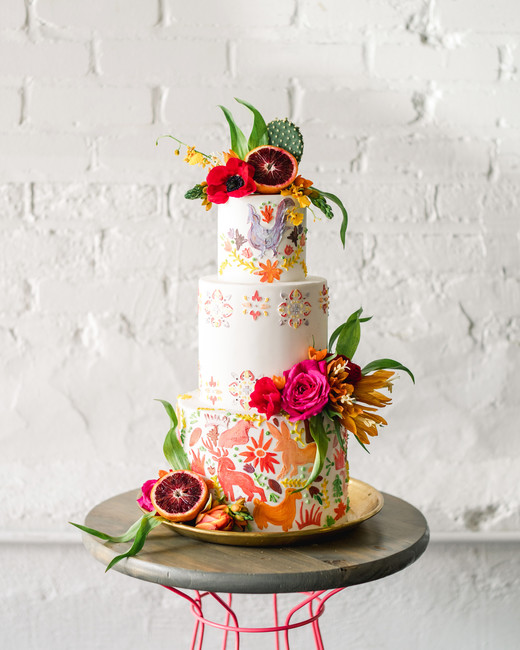 floral wedding cakes rodeo and co tropical southern