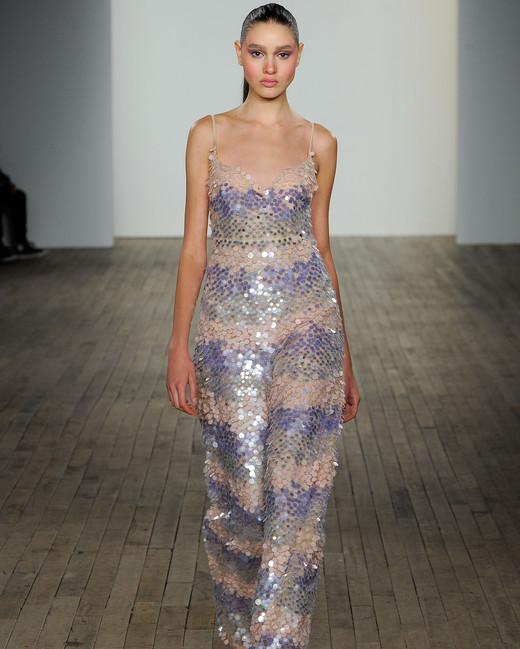 haley paige fall 2019 spaghetti strap jumpsuit wedding dress