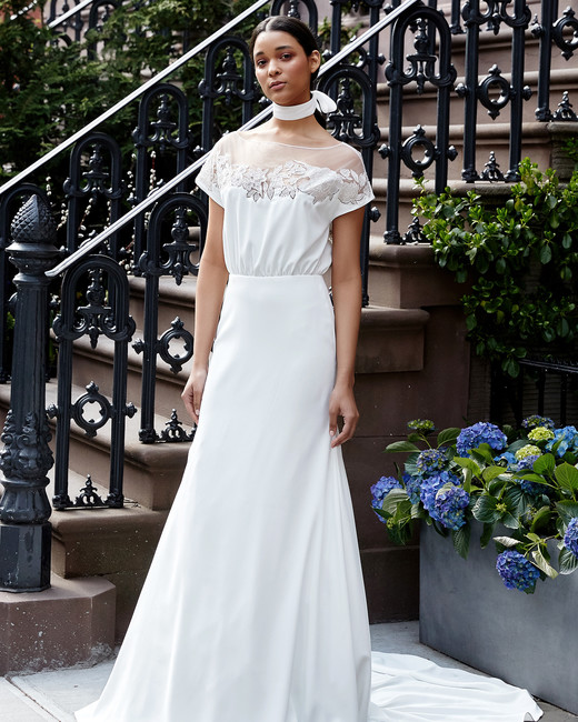 lela rose wedding dress spring 2019 flouncy bodice cap sleeve