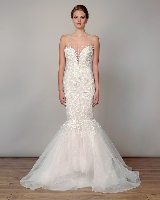 liancarlo wedding dress spring 2019 plunging neckline mermaid