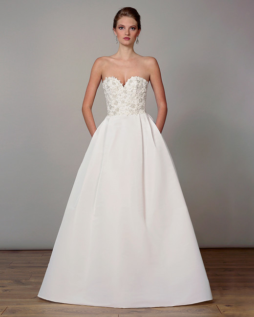 liancarlo wedding dress spring 2019 sweetheart corseted bodice